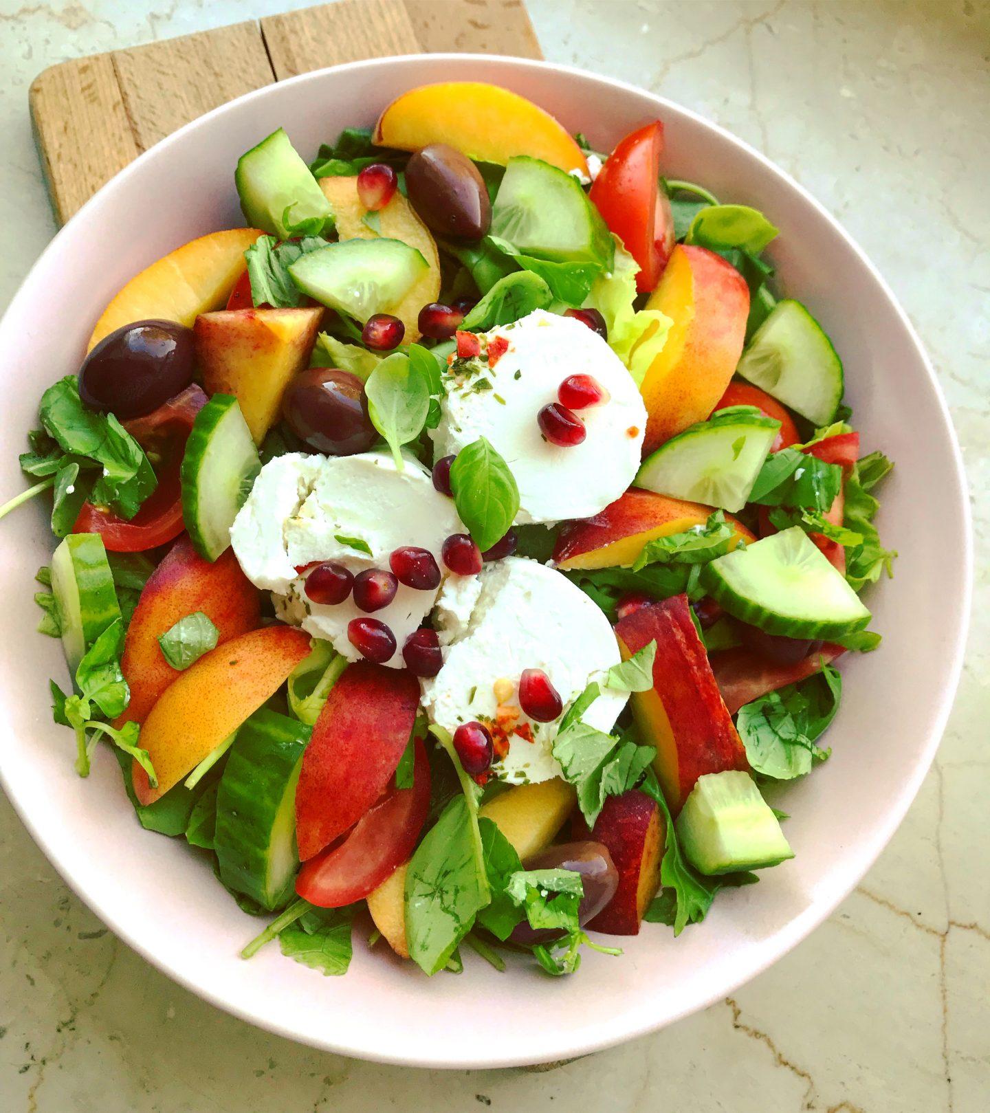 Ziegenkäse-Salat mit Nektarinen
