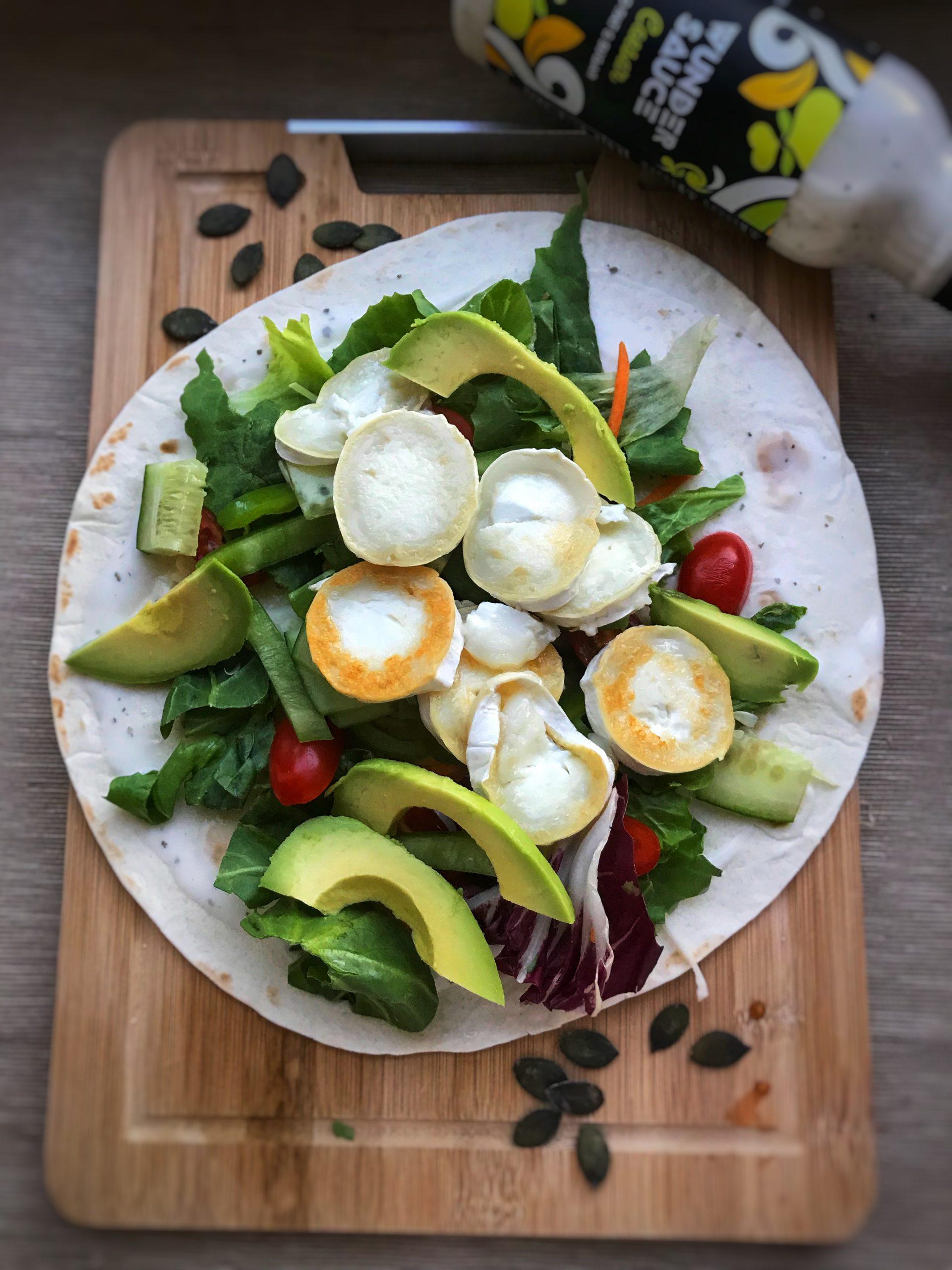 Ziegenkäse-Wrap mit Avocado