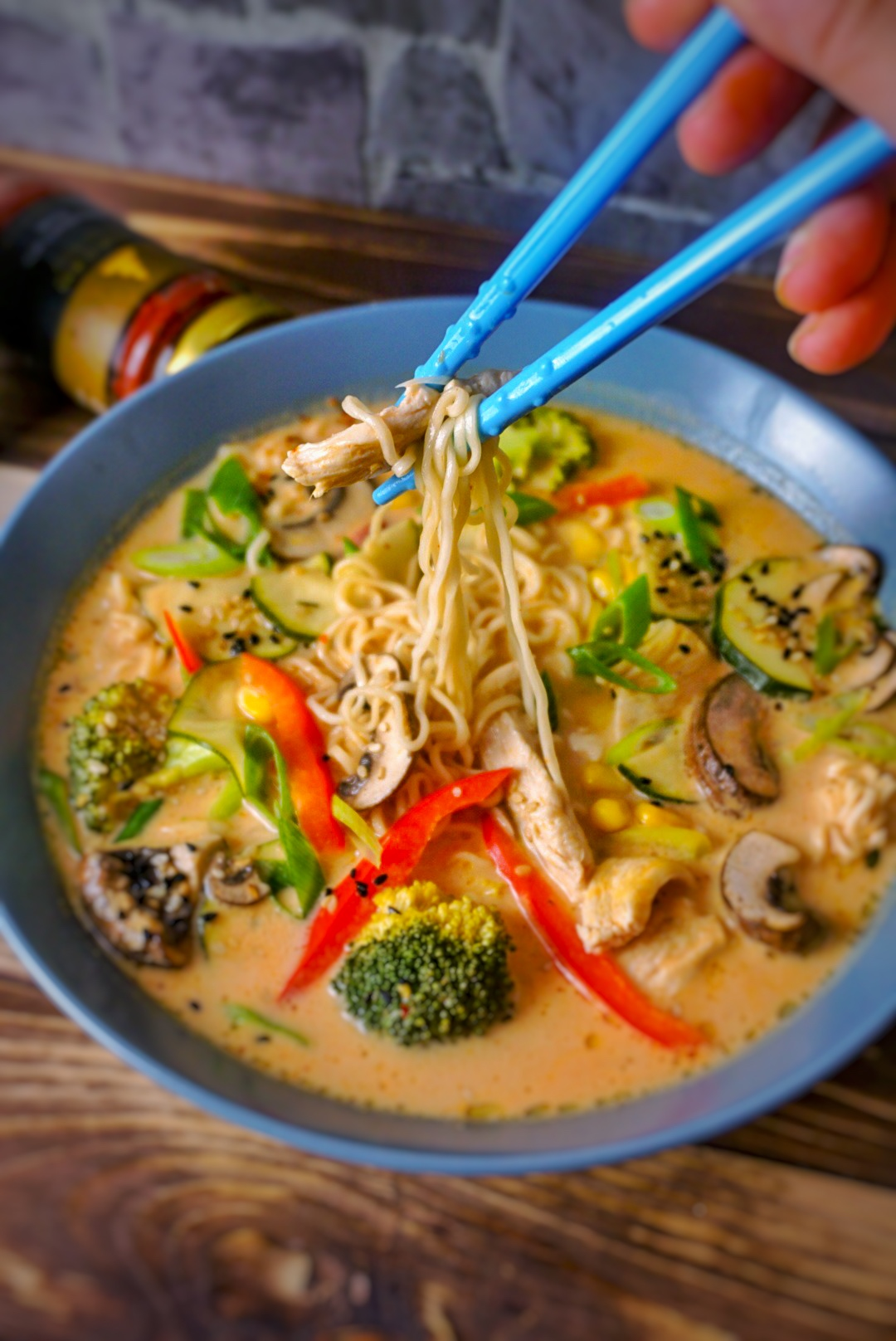 Red Thai-Curry-Kokos Suppe